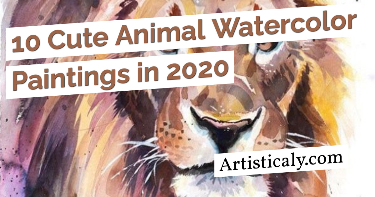 Post Banner: 10 Cute Animal Watercolor Paintings in 2020
