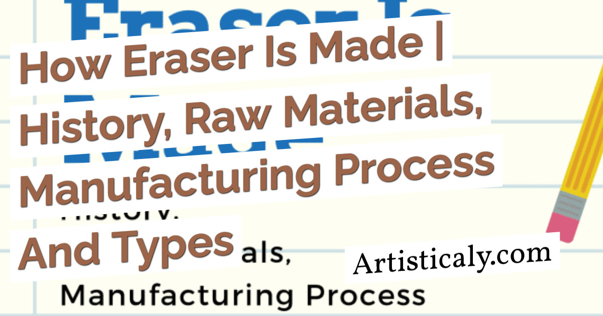 Post Banner: How Eraser Is Made | History, Raw Materials, Manufacturing Process And Types