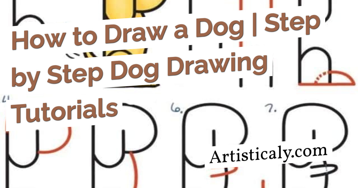 Post Banner: How to Draw a Dog | Step by Step Dog Drawing Tutorials